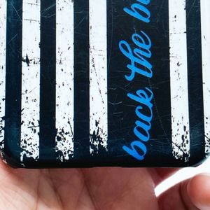 Back the Blue iPhone X Case